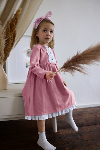 Платье МТ20-3 пудра фланель