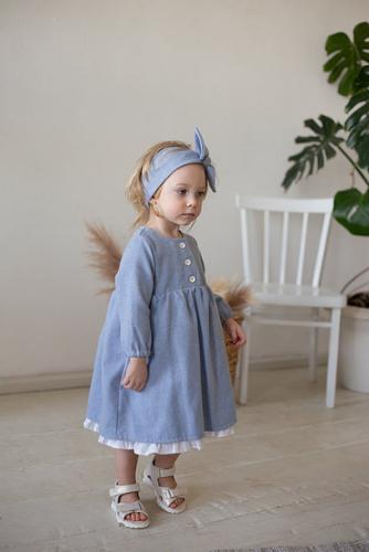 Платье МТ20-6 голубой меланж