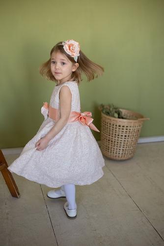 Платье для девочки Милана М-257 лоза жаккард