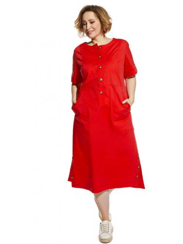 Платье 2054 красное 1200р