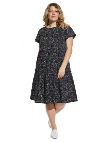 Платье 2092 черное 1350р