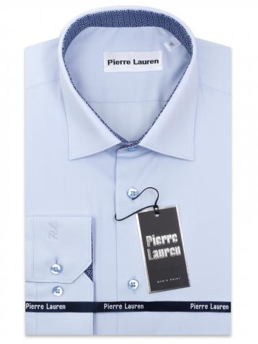 0219TESF Приталенная мужская рубашка с длинным рукавом Elegance Slim Fit