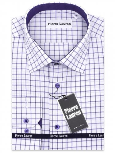 0212TESF Приталенная мужская рубашка с длинным рукавом Elegance Slim Fit