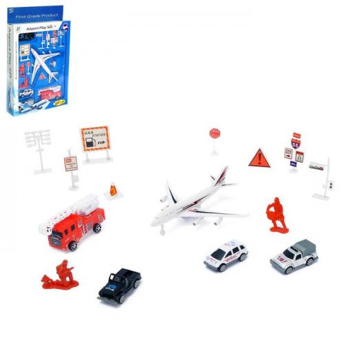 Игровой набор с инерционным транспортом «Аэропорт» МИКС