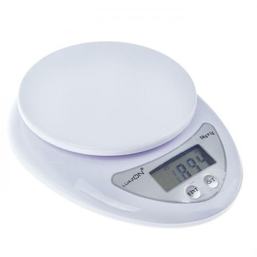 Весы кухонные LuazON LVK-501, электронные, до 5 кг, белые