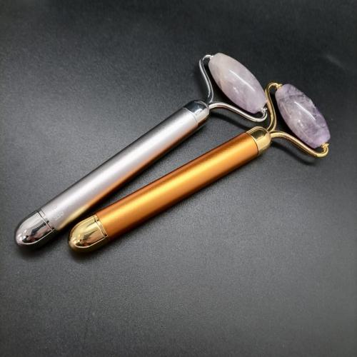 Массажер роллер для лица с вибрацией из Аметиста