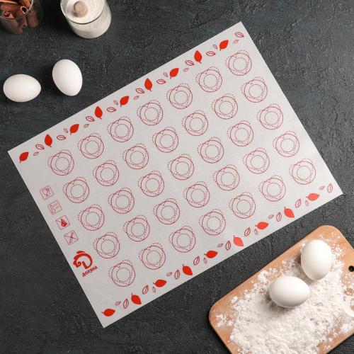 Коврик армированный для макаронс Доляна, 40×30 см, цвет МИКС