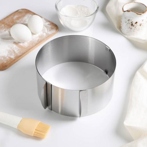 Форма разъёмная для выпечки кексов и тортов с регулировкой размера Доляна, 16-30 см