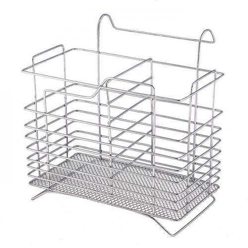 Сушилка для столовых приборов подвесная Доляна, d=2 см, 15×15×12 см, цвет хром