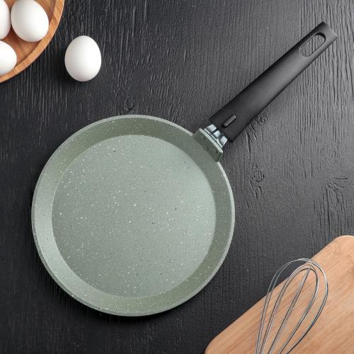 Сковорода блинная KUKMARA «Фисташковый мрамор», d=22 см
