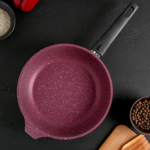 Сковорода KUKMARA Trendy style, d=24 см, съёмная ручка, цвет мистерия