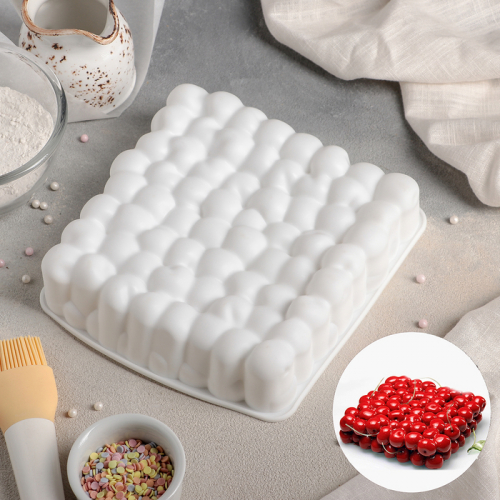 Форма для муссовых десертов и выпечки Доляна «Пузыри», 18,5×4,5 см, цвет белый