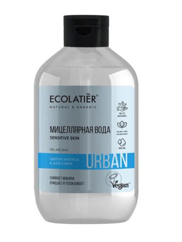 ECL/1890/ Мицеллярная вода для снятия макияжа для чувств. кожи цветок кактуса & алоэ вера,600 мл