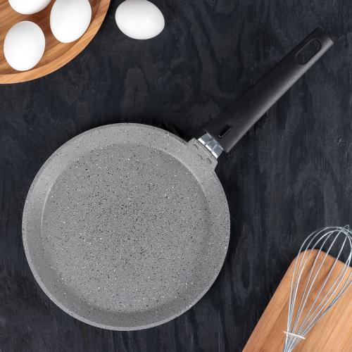 Сковорода блинная KUKMARA, d=22 см, антипригарное покрытие, цвет светлый мрамор