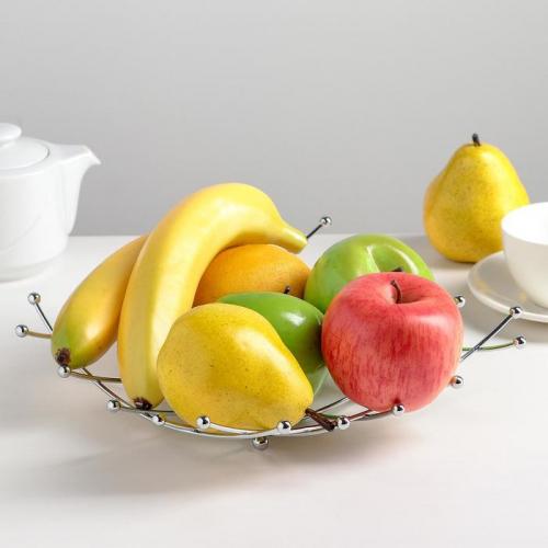 Блюдо для фруктов Доляна, 23 см х 23 см х 4 см