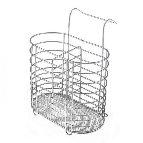 Сушилка для столовых приборов подвесная Доляна, d=1,5 см, 16,5×15,5×12 см, цвет хром
