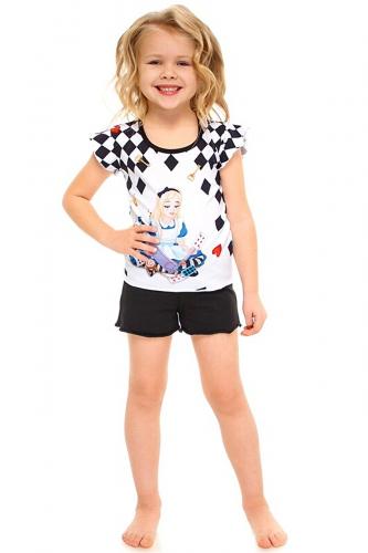 Пижама #261086Алиса на белом+черный