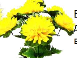 Букет хризантем в чашке с добавками, 9 голов, высота 60см, (20шт микс)