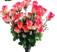 Букет роз (бутон) с добавками, 36 голов, высота 70см, (12шт микс)