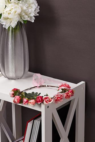 Веночек #230198Светло-розовый, зеленый