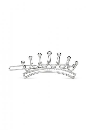 Заколки для волос Королева ночи, 5,5х2 см #196865Серебристый
