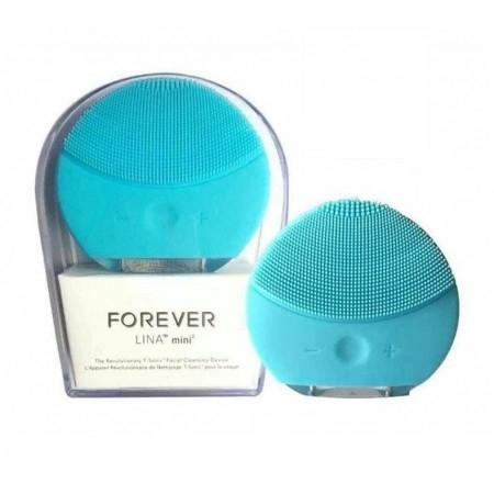 Электрическая щетка для чистки и spa-массажа лица Forever, голубая