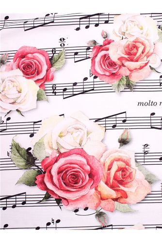 Лонгслив #264752Ноты и розы