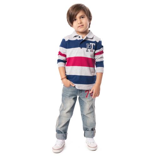 Брюки текстильные джинсовые для мальчиков