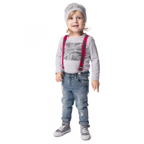 Фуфайка детская трикотажная для мальчиков (футболка с длинным рукавом)