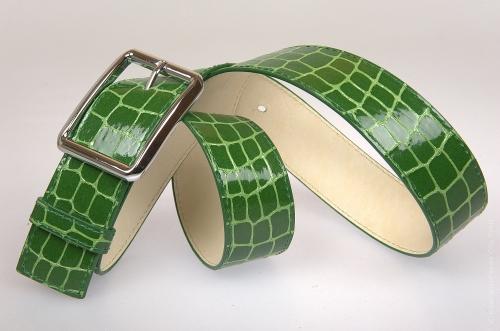 Женский ремень № 5826, цвет зеленый