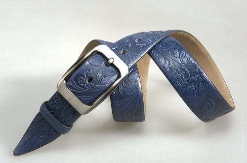 Мужской ремень № 16297 ,цвет синий