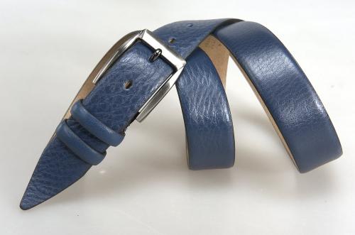 Мужской ремень № 17436 ,цвет синий