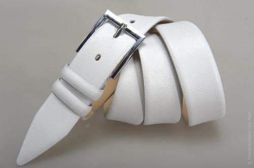 Мужской ремень № 14563 ,цвет белый