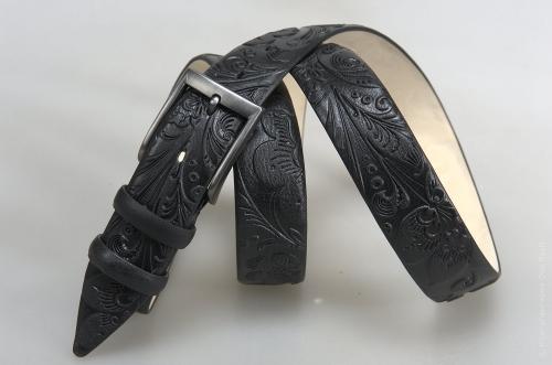 Мужской ремень № 15780 ,цвет черный