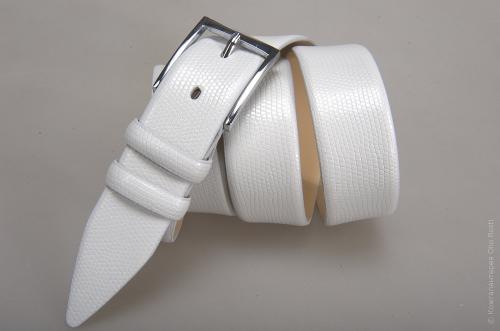 Мужской ремень № 14565 ,цвет белый