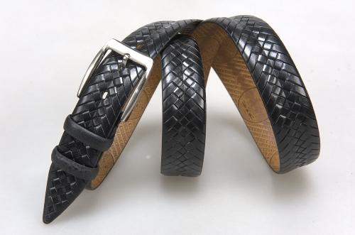 Мужской ремень № 16041 ,цвет черный