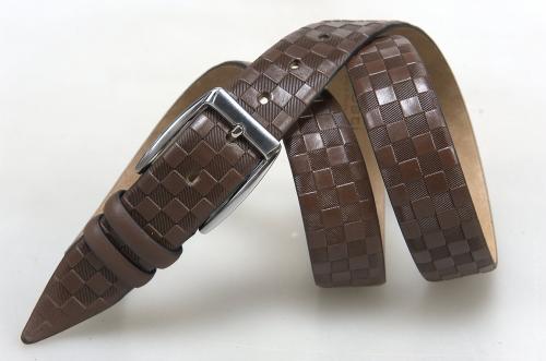 Мужской ремень № 16301 ,цвет коричневый