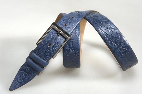 Мужской ремень № 16294 ,цвет синий