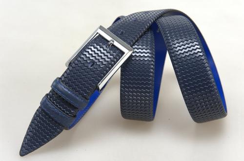 Мужской ремень № 18116 ,цвет синий