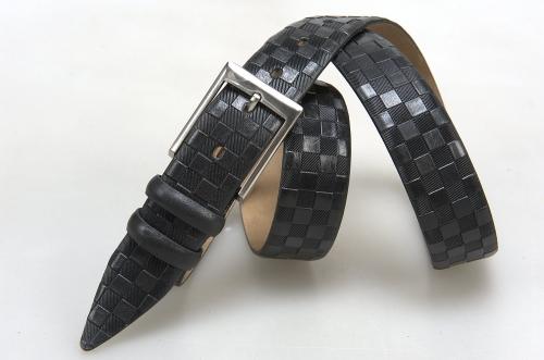 Мужской ремень № 16302 ,цвет черный