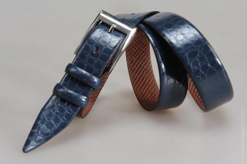 Мужской ремень № 15251 ,цвет синий