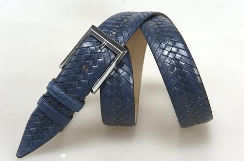 Мужской ремень № 18108 ,цвет синий