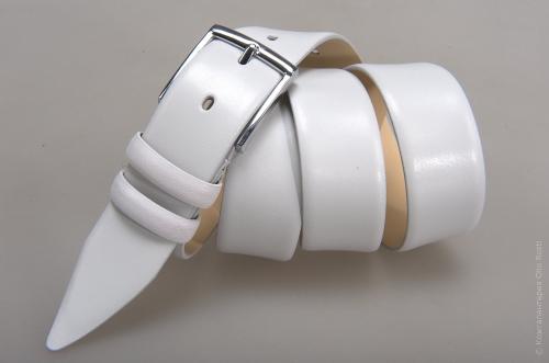 Мужской ремень № 14567 ,цвет белый