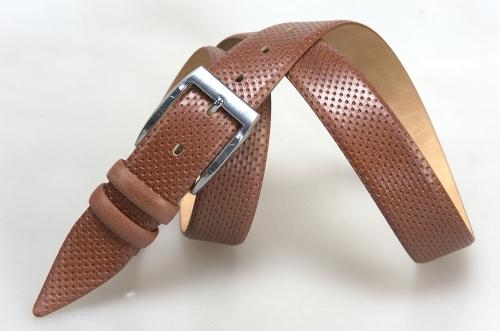Мужской ремень № 17110 ,цвет светло-коричневый