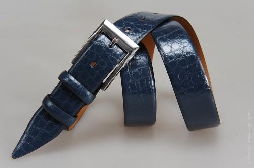 Мужской ремень № 15265 ,цвет синий
