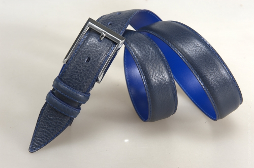 Мужской ремень № 17808 ,цвет синий