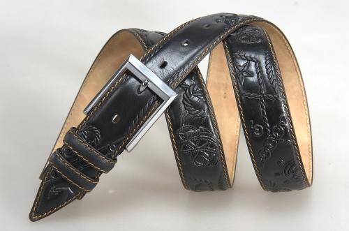 Мужской ремень № 17673 ,цвет черный
