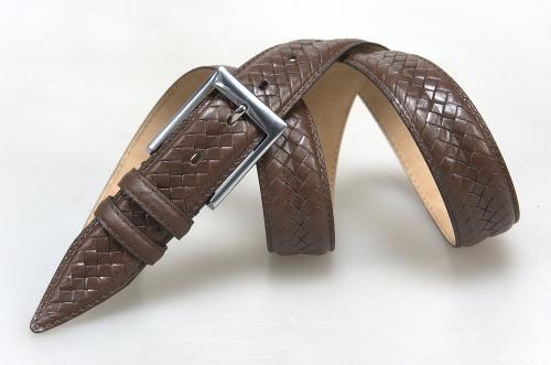Мужской ремень № 16077 ,цвет коричневый