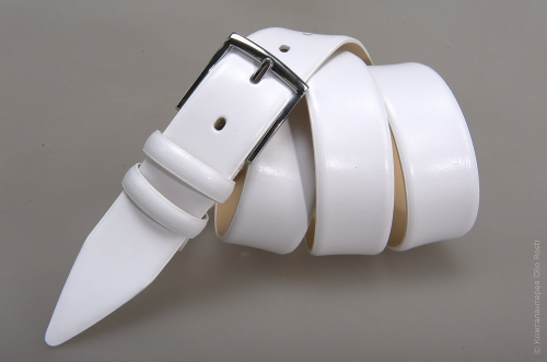 Мужской ремень № 14559 ,цвет белый