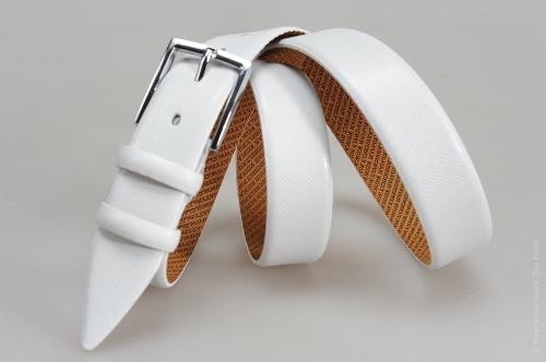 Мужской ремень № 15252 ,цвет белый